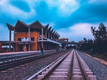 Estación de manera del carril imagen de archivo