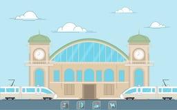 Estación de manera del carril Imagen de archivo libre de regalías