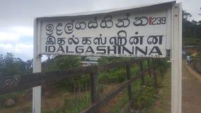 Estación de manera del carril de Idalgashinna - Sri Lanka fotografía de archivo libre de regalías