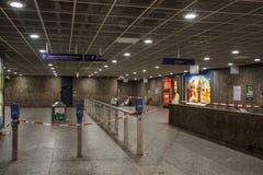 Estación de metro cerrada en Munich, Alemania, 2015 Imagen de archivo libre de regalías