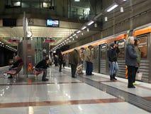 Estación de metro de Atenas Foto de archivo