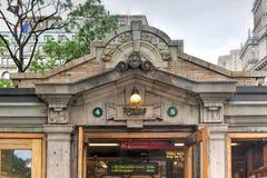 Estación de metro de Bowling Green Imágenes de archivo libres de regalías