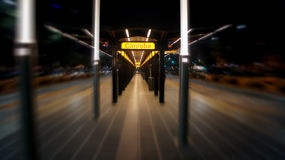 Estación de metro de Córdoba en Avenida 9 de Julio en Buenos Aires Fotografía de archivo libre de regalías