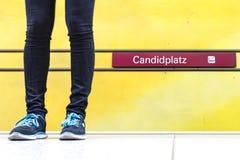 Estación de metro de Candidplatz Fotografía de archivo