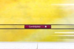 Estación de metro de Candidplatz Foto de archivo