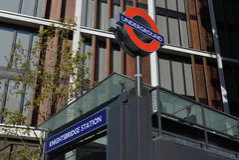 Estación de metro de Knightsbridge Imagen de archivo