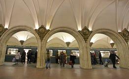 Estación de metro de Moscú Paveletskaya Imagen de archivo libre de regalías
