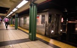 Estación de metro de New York City foto de archivo libre de regalías