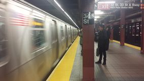 Estación de metro de Nueva York Fotografía de archivo