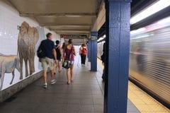 Estación de metro de Nueva York Imagen de archivo libre de regalías
