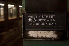 Estación de metro de Nueva York Fotos de archivo libres de regalías