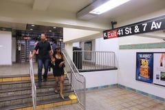 Estación de metro de Nueva York Foto de archivo
