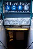 Estación de metro de NYC Fotos de archivo libres de regalías