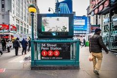 Estación de metro de NYC Imagen de archivo