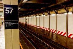 57.a estación de metro de Streen - Manhatan, Nueva York Fotografía de archivo libre de regalías