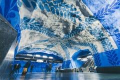 Estación de metro de T-Centralen en Estocolmo, Suecia Fotografía de archivo libre de regalías