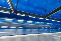 Estación de metro de T-Centralen en Estocolmo, Suecia Imagen de archivo