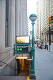 Estación de metro de Wall Street en Nueva York Imagen de archivo libre de regalías