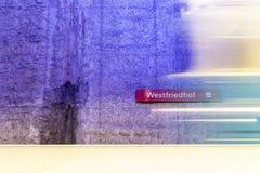 Estación de metro de Westfriedhof Fotos de archivo