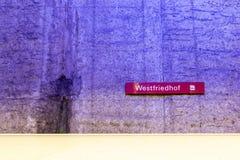 Estación de metro de Westfriedhof Fotos de archivo libres de regalías