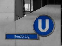 Estación de metro del Parlamento alemán Foto de archivo libre de regalías