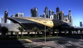 Estación de metro del puerto deportivo de Dubai Imagen de archivo libre de regalías