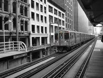 Estación de metro elevada Fotografía de archivo libre de regalías