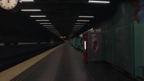 Estación de metro en Estocolmo almacen de metraje de vídeo
