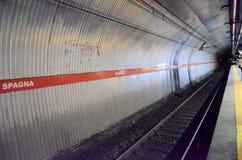 Estación de metro en Roma fotos de archivo libres de regalías
