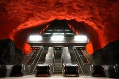 Estación de metro en Suecia foto de archivo