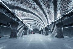 Estación de metro en una ciudad grande Foto de archivo libre de regalías