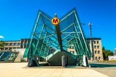 Estación de metro en Varsovia Fotografía de archivo