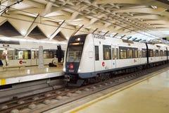 Estación de metro (estacion De Colon) en Valencia Imagenes de archivo