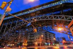 125a estación de metro de la calle - New York City Fotos de archivo libres de regalías