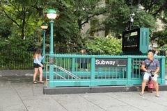 Estación de metro Nueva York Fotografía de archivo
