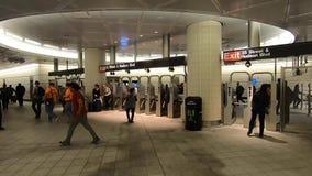 Estación de metro de Nueva York en Hudson Yards -8 almacen de video