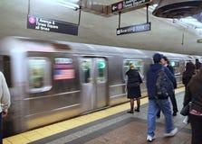 Estación de metro de Nueva York fotografía de archivo libre de regalías