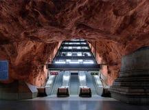 Estación de metro Radhuset en Estocolmo Imágenes de archivo libres de regalías
