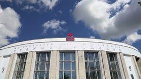 Estación de metro Rizhskaya en Moscú, Rusia almacen de metraje de vídeo