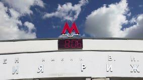 Estación de metro Rizhskaya en Moscú, Rusia Fue abierto en 01 05 1958 almacen de metraje de vídeo