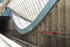 Estación de metro St-Quirin-Platz Imagenes de archivo