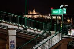 Estación de Nebozizek, Petrin, colina, Praga Fotografía de archivo
