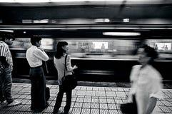 Estación de Osaka Subway Foto de archivo libre de regalías