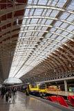 Estación de Paddington en Londres Imagen de archivo libre de regalías