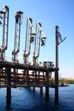 Estación de petróleo Fotos de archivo libres de regalías