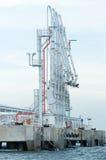 Estación de petróleo costa afuera Imagen de archivo