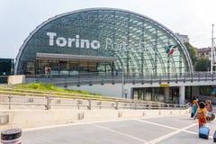 Estación de Porta Susa en Turín Fotos de archivo libres de regalías