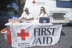 Estación de primeros auxilios americana de la Cruz Roja Fotos de archivo libres de regalías