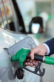 Estación de servicio de la gasolina Fotos de archivo libres de regalías