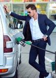 Estación de servicio de la gasolina Fotografía de archivo